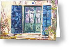 213 Rue De Provence Greeting Card by David Lloyd Glover