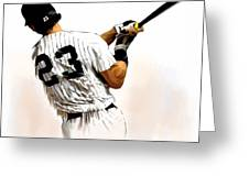 23   Don Mattingly  Greeting Card by Iconic Images Art Gallery David Pucciarelli