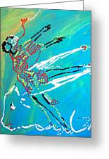 Dinka Dance - South Sudan Greeting Card by Gloria Ssali