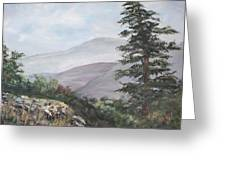The Smokies Greeting Card by Frances Lewis