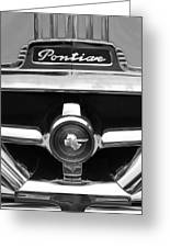 1951 Pontiac Streamliner Grille Emblem Greeting Card by Jill Reger