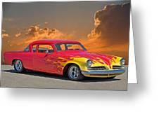 1954 Studebaker Custom Greeting Card by Dave Koontz