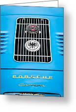 1960 Volkswagen Vw Porsche 356 Carrera Gs Gt Replica Emblem Greeting Card by Jill Reger