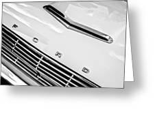 1963 Ford Falcon Futura Convertible Hood Emblem Greeting Card by Jill Reger