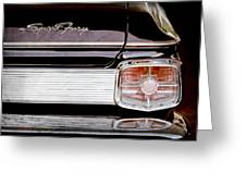 1963 Plymouth Sport Fury Taillight Emblem Greeting Card by Jill Reger