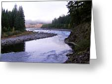 A Mountain Stream Greeting Card by J D Owen