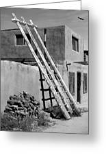 Acoma Pueblo Adobe Homes Greeting Card by Mike McGlothlen