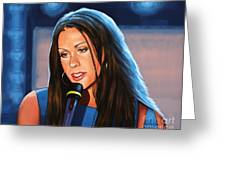Alanis Morissette  Greeting Card by Paul Meijering