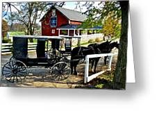 Amish Country Greeting Card by Frozen in Time Fine Art Photography