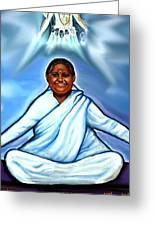 Amma And Kali Greeting Card by Carmen Cordova