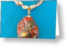 Aphrodite Genetyllis Necklace Greeting Card by Augusta Stylianou