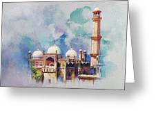 Badshahi Mosque Greeting Card by Catf