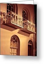 Balconies Greeting Card by Tom Gowanlock
