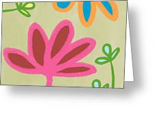 Bali Garden Greeting Card by Linda Woods