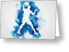 Basketball Player Greeting Card by Aged Pixel