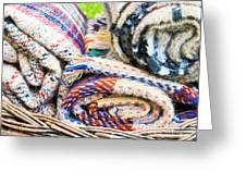 Blankets Greeting Card by Tom Gowanlock