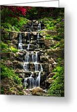 Cascading Waterfall Greeting Card by Elena Elisseeva