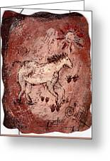 Cave Art Greeting Card by Shelley Bain