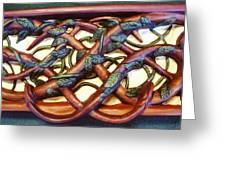 Celtic Tree Of Life Detail Greeting Card by Charles Lucas