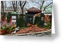 Central Park Boathouse Greeting Card by Paul Ward