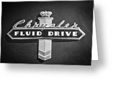 Chrysler Fluid Drive Emblem Greeting Card by Jill Reger