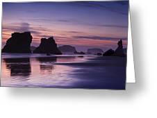 Coastal Reflections Greeting Card by Andrew Soundarajan