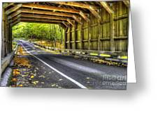 Covered Bridge At Sleeping Bear Dunes Greeting Card by Twenty Two North Photography