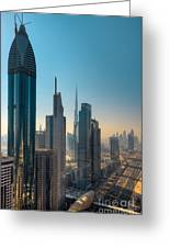 Dubai Skyline Greeting Card by Fototrav Print