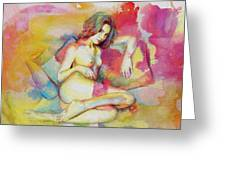 Figure Work Greeting Card by Catf
