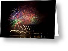 Fireworks Display Greeting Card by Michel Rathwell