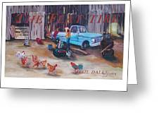 Flat Tire Greeting Card by Gail Daley