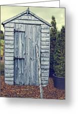 Garden Shed Greeting Card by Amanda Elwell