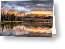 Golden Sunrise Greeting Card by Robert Bales