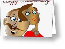 Happy Anniversary Greeting Card by Iris Gelbart