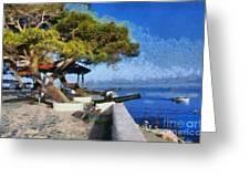 Hydra Island Greeting Card by George Atsametakis