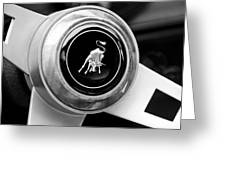 Lamborghini Steering Wheel Emblem Greeting Card by Jill Reger