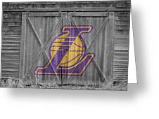 Los Angeles Lakers Greeting Card by Joe Hamilton