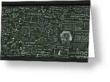 Maths Formula On Chalkboard Greeting Card by Setsiri Silapasuwanchai