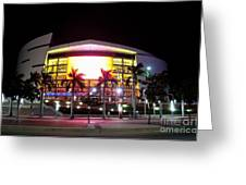 Miami Heat Greeting Card by Andres LaBrada