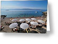 Mikro Kamini Beach Greeting Card by George Atsametakis