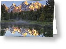 Morning Reflection Greeting Card by Andrew Soundarajan