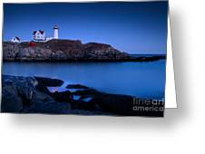 Nubble Lighthouse Greeting Card by Brian Jannsen