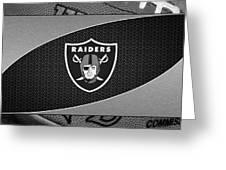 Oakland Raiders Greeting Card by Joe Hamilton