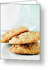 Oatmeal Cookies Greeting Card by HD Connelly