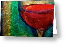 One More Glass Greeting Card by Debi Starr