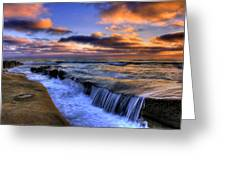 Over The Edge Greeting Card by Jason Bates