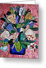 Patchwork Bouquet Greeting Card by Sarah Loft