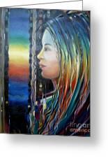 Rainbow Girl 241008 Greeting Card by Selena Boron