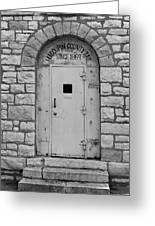 Route 66 - Macoupin County Jail Greeting Card by Frank Romeo