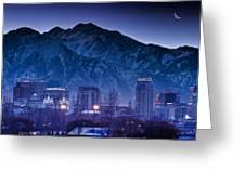 Salt Lake City Utah Skyline Greeting Card by Utah Images